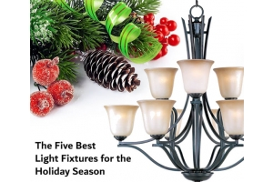 iron chandelier with holiday theme