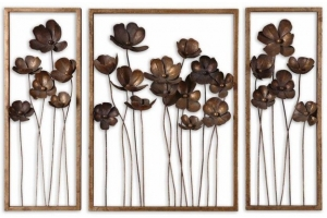 3 pc metal wall decor