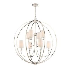 Libby Langdon For Crystorama Sylvan 8 Light Polished Nickel Chandelier