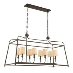 Libby Langdon For Crystorama Sylvan 8 Light Dark Bronze Chandelier
