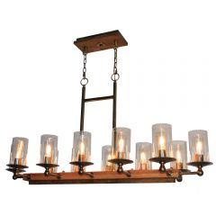 Legno Rustico 12 Light Kitchen island lighting fixture