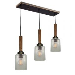 Legno Rustico 3 Light Kitchen island lighting fixture