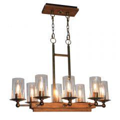 Legno Rustico 8 Light Kitchen island lighting fixture