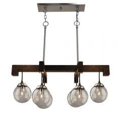 Espresso 6 Light Kitchen island lighting fixture