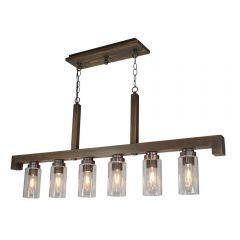 Jasper Park 6 Light Kitchen island lighting fixture