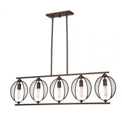 Linden 5 Light Kitchen island lighting fixture