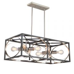 Corona 8 Light Kitchen island lighting fixture
