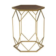 ELK Home 51-010 Hexagon Frame Side Table