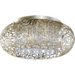 Crystal Glass Arabesque 7 Light Flush Mount