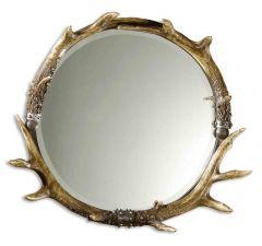 Uttermost 11556 B Stag Horn Round Wall Mirror